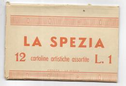 LA SPEZIA - LIBRETTO 12 CARTOLINE D'EPOCA FORMATO PICCOLO - EDIZIONI CAVALVA LA SPEZIA - - La Spezia