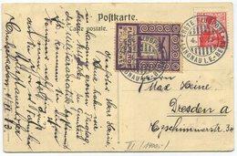 1955 - Pionierflug Von LANGNAU Am 4. Mai 1913 Auf Offizieller Postkarte Mit Zudruck Flugtag Langnau I.E. - Premiers Vols