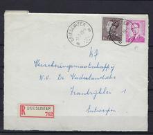 N°848A+1069P3 GESTEMPELD Drieslinter B OP VOORZIJDE VAN AANGETEKENDE OMSLAG SUPERBE - 1936-1951 Poortman