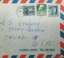 O) 1955 CUBA-CARIBE. CARIBBEAN, GENERAL MARIO G. MENOCAL, JUAN GUALBERTO, AIRMAIL TO USA - Cuba