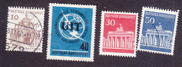 Germany, Scott #903, 927, 954-955, Used, Architecture, ITU, Issued 1964-66 - [7] Federal Republic