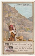 "Chromo Liebig ""l'algérie Pittoresque"" Panorama De Tilatou, Près D'el Kantara (constantine) - Publicidad"