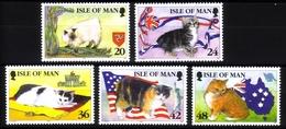 ISLE OF MAN MI-NR. 668-672 ** MANX KATZEN - Hauskatzen