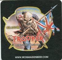 Lote I4, Inglaterra, Posavaso, Coaster, Trooper, IronMaidenBeer, Cuadrada - Beer Mats