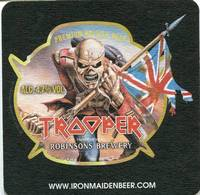 Lote I4, Inglaterra, Posavaso, Coaster, Trooper, IronMaidenBeer, Cuadrada - Portavasos