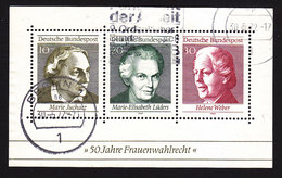 Germany, Scott #1007, Used, 50th Anniversary Of Universal Women's Suffrage, Issued 1969 - [7] Federal Republic