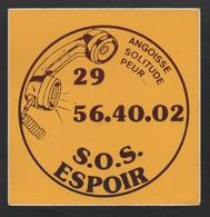 SOS ESPOIR ANGOISSE SOLITUDE PEUR / AUTOCOLLANT REF: 001 - Stickers