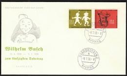 Germany Saarbrucken 1958 / 50th Anniversary Of Death Wilhelm Busch / FDC - Writers