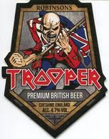 Lote I5, Inglaterra, Posavaso, Coaster, Trooper, IronMaidenBeer, Irregular - Beer Mats