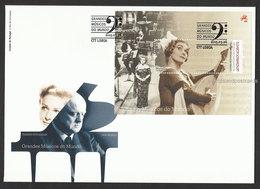 Portugal Elisabeth Schwarzkopf  Musique Opera 2015 FDC Avec Bloc Great Musicians Music 2015 FDC With Souvenir Sheet - Muziek