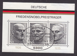 Germany, Scott #1203, Used, German Winners Of Noble Peace Prize, Issued 1975 - [7] Federal Republic