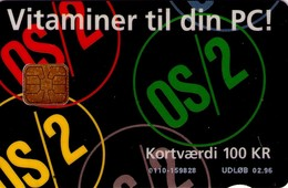 TARJETA TELEFONICA DE DINAMARCA. DD037B, Ibm Os/2 (108) - Denmark
