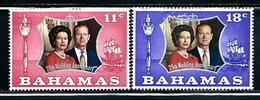 "Bahamas    ""Silver Wedding""     Set     SC# 344-45 Mint - Bahamas (1973-...)"