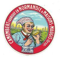ETIQUETTE De FROMAGE.. CAMEMBERT Fabriqué En NORMANDIE ..M. NEYROUD, Fabricant  BOISSY MAUGIS ( Orne 61) - Cheese