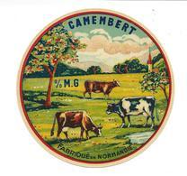 ETIQUETTE De FROMAGE.. CAMEMBERT Fabriqué En NORMANDIE ..VACHES - Cheese