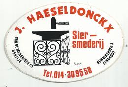Sticker - SIER SMEDERIJ - J. Haeseldonckx - Heultje - Eindhout - Stickers