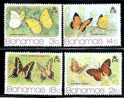 """Bahamas   """"Buterflies""""   Set     SC# 370-73    MNH** - Bahamas (1973-...)"""