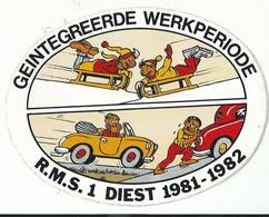 Sticker - Geintegreerde Werkperiode - R.M.S.1 DIEST 1981 1982 - Stickers
