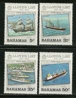 """Bahamas    """"Lloyd's List-Ships""""  Set   SC# 555-58    MNH** - Bahamas (1973-...)"""