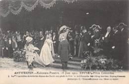 ANTWERPEN - Koloniale Feesten - 6 Juni 1909 - Antwerpsche Bevoling Bied Den Koning Bloemen - Antwerpen