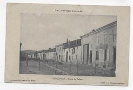 (RECTO / VERSO) AJONCOURT - LORRAINE ANNEXEE - ROUTE DE DELME - PLIS ANGLES A GAUCHE - CPA VOYAGEE - Andere Gemeenten
