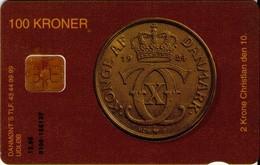 TARJETA TELEFONICA DE DINAMARCA. DD063, First Danish Yellow 2 Krone - TIRADA 15332 (100) - Dinamarca