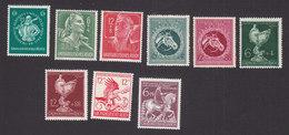 Germany, Scott #B280-B282, B284-B287, B289-B290, Mint Hinged, Albert I, Labor, Race Horses, Nautilius Cup, Issued 1944-5 - Germany