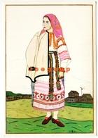 Postcard International Youth Tourist Bureau Of The USSR Woman`s Dress Tula Province CCCP - Postcards
