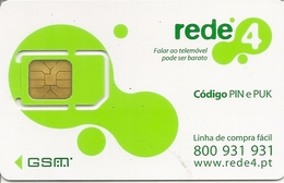 REDE4 SimCard GSM - Portugal - Portugal