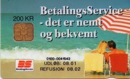 TARJETA TELEFONICA DE DINAMARCA. DD158D, Betalingsservice (TIRADA 10050). (044) - Dinamarca