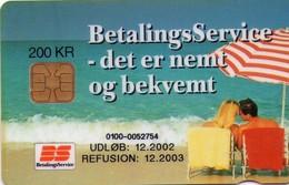 TARJETA TELEFONICA DE DINAMARCA. DD158F, Betalingsservice (TIRADA 14755). (045) - Dinamarca
