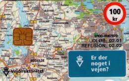 TARJETA TELEFONICA DE DINAMARCA. DD205B, Vejdirektoratet, Map (TIRADA 19999). (022) - Dinamarca