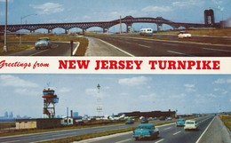 New Jersey Turnpike Top View: Pulaski Skyway Crossing Lower View: New Jersey Turnpike At Newark Airport - Other