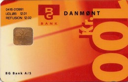 TARJETA TELEFONICA DE DINAMARCA. DD208FA, Bg Bank Loenkonto 2.edition (TIRADA 7050). (038) - Dinamarca