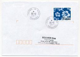 "POLYNESIE FRANCAISE - Enveloppe Affr. Pareo Oblitérée ""VAIPAEE - UA - HUKA / MARQUISES"" 30-12-2011 - Lettres & Documents"