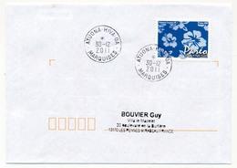 "POLYNESIE FRANCAISE - Enveloppe Affr. Pareo Oblitérée "" ATUONA - HIVA - OA / MARQUISES"" 30-12-2011 - Lettres & Documents"