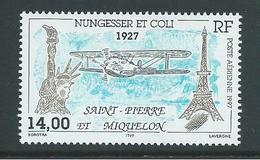 St Pierre & Miquelon 1997 Nungesser & Coli 14 Fr Airmail Single MNH - Unused Stamps