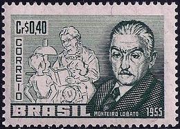 LSJP BRAZIL MONTEIRO LOBATO WRITER 1955 MNH - Brasilien