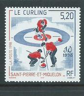 St Pierre & Miquelon 1998 Nagano Winter Olympics Single MNH - Unused Stamps