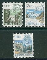 18/7 (5/24/9) Suisse YT 1171/73 XX Zodiaque Zodiac Cancer Lion Leo Vierge Virgen Montagne Mountain - Schweiz