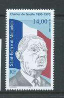 St Pierre & Miquelon 1995 Charles De Gaulle 14 Fr Single MNH - Unused Stamps
