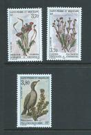 St Pierre & Miquelon 1995 - 1997 Flora & Fauna Issues (3) MNH - St.Pierre & Miquelon