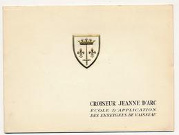 Carte De Voeux 1959 - Croiseur Jeanne D'Arc, école D'application Des Enseignes De Vaisseau - Boats