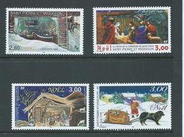 St Pierre & Miquelon 1995 - 1998 Christmas Issues (4) MNH - St.Pierre & Miquelon