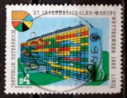 AUSTRIA 1983 The 27th International Vocational Competition, 1983 Linz. USADO - USED. - 1945-.... 2. Republik