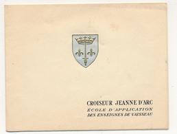 Carte De Voeux Année ? - Croiseur Jeanne D'Arc, école D'application Des Enseignes De Vaisseau - Boats