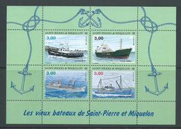 St Pierre & Miquelon 1996 Ships & Boats Miniature Sheet MNH - St.Pierre & Miquelon