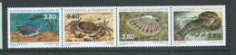 St Pierre & Miquelon 1995 Shellfish Strip Of 4 MNH - Unused Stamps