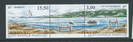 St Pierre & Miquelon 1997 Basque Cape Strip Of 2 + Label MNH - Unused Stamps