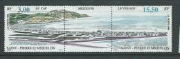 St Pierre & Miquelon 1996 Aerial View Strip Of 2 + Label MNH - St.Pierre & Miquelon